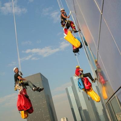 Pose en immeuble de grande Hauteur par techniciens cordistes - Tour EDF